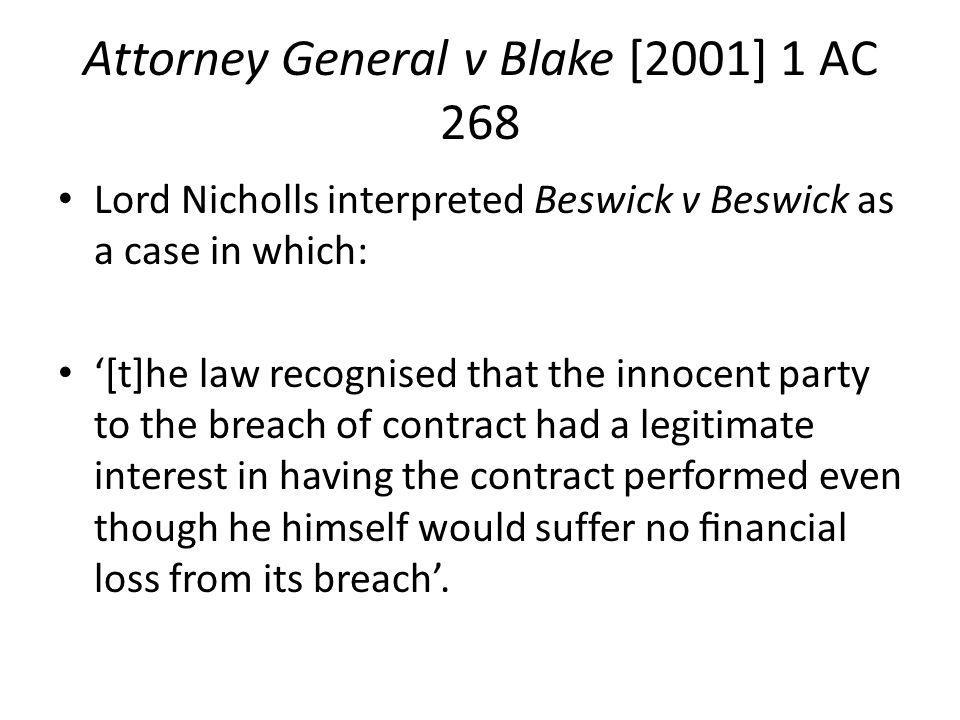 Attorney General v Blake [2001] 1 AC 268